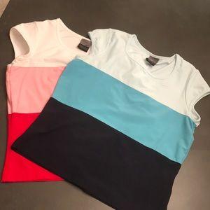 Two Nike Workout Shirts.